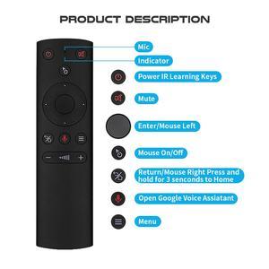 Image 5 - 2 шт./лот гироскопа голосового управления Air mouse ИК беспроводной пульт дистанционного управления Google Assistant смарт пульт дистанционного управления для Android tv box
