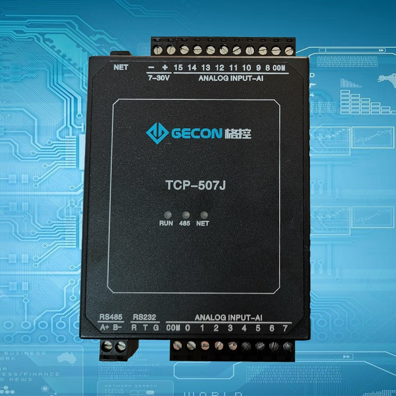16AI التناظرية المدخلات 4-20mA 0-10 فولت إيثرنت وحدة RTU 0.1% دقة اكتساب ADC ونقل