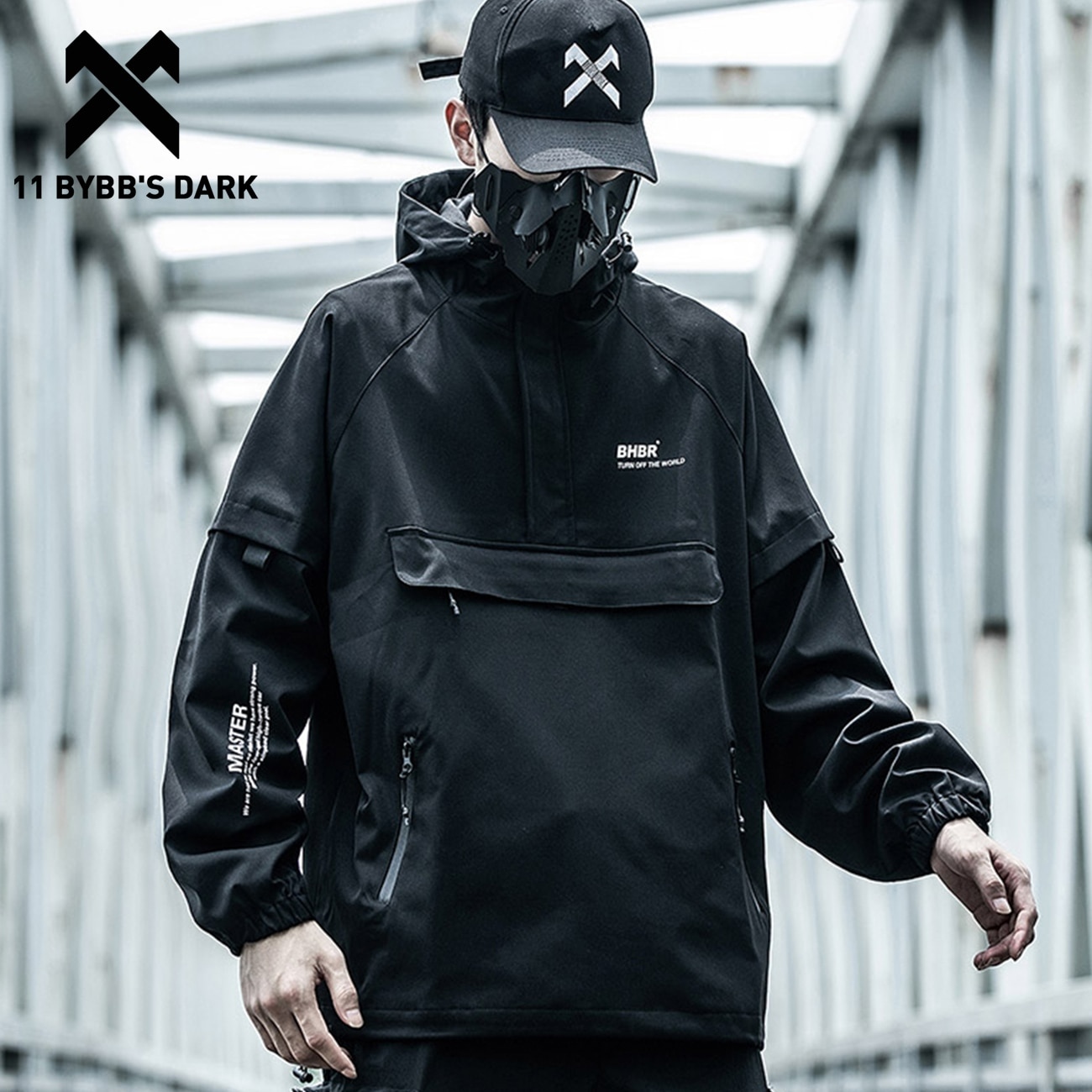 11 BYBB'S DARK Hop Streetwear-معطف بسحاب ، جاكيت شحن متعدد الجيوب ، وظيفة تكتيكية ، سترة واقية من الرياح للخريف