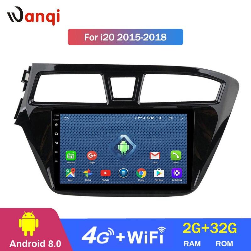 4G Lte Alle Netcom 9 zoll Android 8.0 AUTO gps Navigation Radio Für Hyundai i20 2015-2015 Auto DVD player