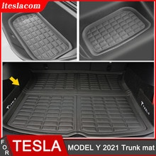 New High Quality Car Trunk Mat For Tesla Model Y 2021 Mat Accessories XPE Car Rear Trunk Cargo Tray