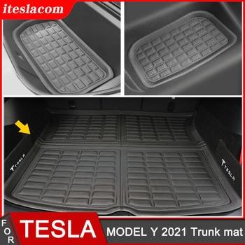 New High Quality Car Trunk Mat For Tesla Model Y 2021 Mat Accessories XPE Car Rear Trunk Cargo Tray Floor Mats Front Trunk mats