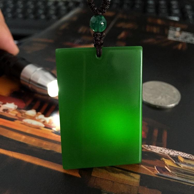 Collar con colgante de jade VERDE Natural, collares colgantes de jade para hombres y mujeres, joyería de jade jadeíta, collar para mujeres, envío de cadena