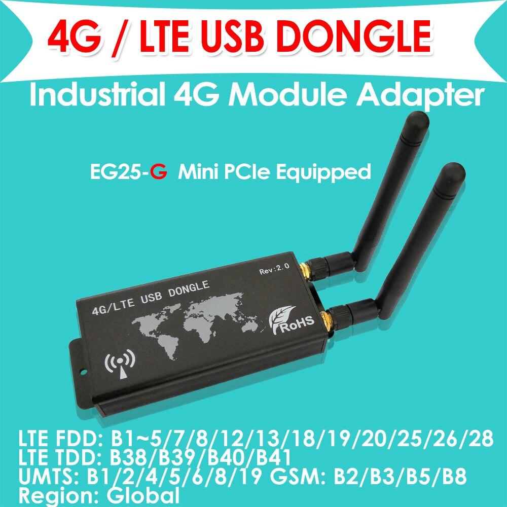 4g lte dongle com slot para cartão sim lte fdd EG25-G versão global industrial mini pcie para usb (tipo-c) adaptador
