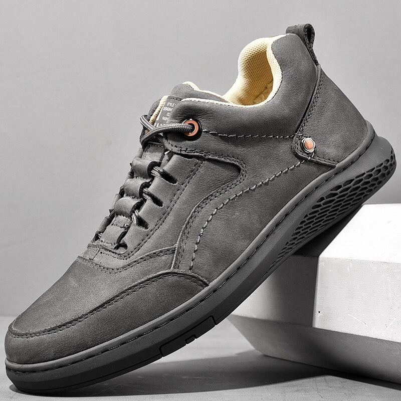 Мужская обувь на осень и зиму, универсальная повседневная спортивная обувь, мужская Всесезонная спортивная обувь, мужская кожаная обувь, те...