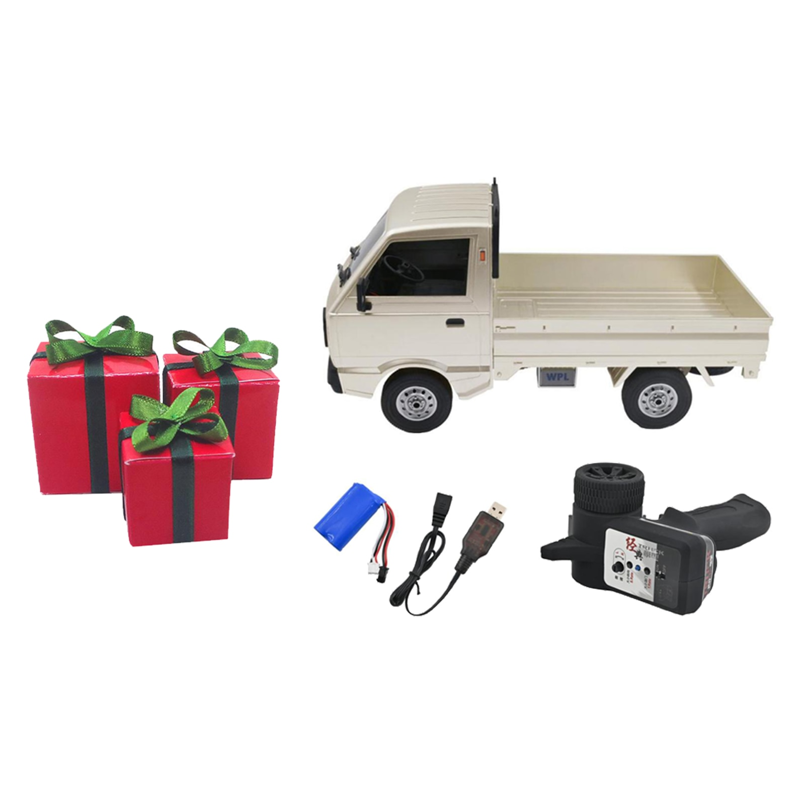 Toy Grade WPL D12 RC Truck Car 1/10 Scale Simulation On-Road Climbing Car