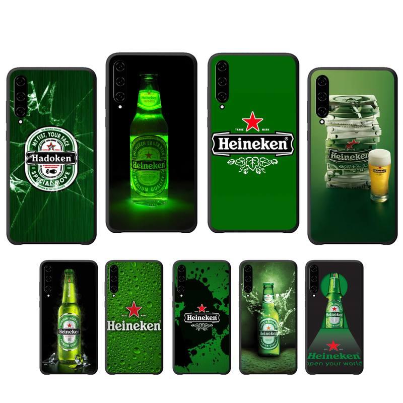 Heineke cerveza suave negro caso de la cubierta del teléfono para Xiaomi mi A1 A2 6 8 9 t pro 10 lite Nota 10 cc9 pro Mix MAX 2 3 coque
