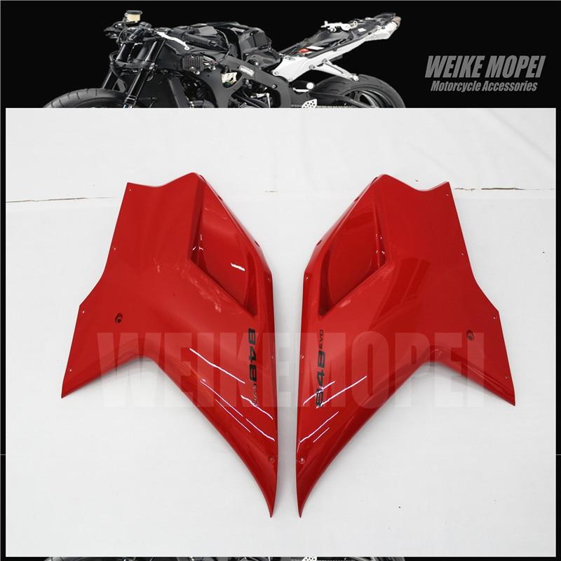 Motocicleta inferior lado cowl carenagem painel apto para ducati 848 1098 1198 evo 2007 2008 2009 2010 2011