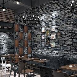 3d tijolo papel de parede restaurante sala de estar fundo decoração da sua casa à prova dwaterproof água pvc vinil rolos padrão pedra papel de parede 3d