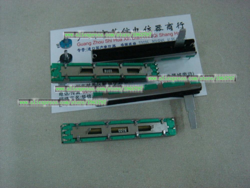 1 unids/lote 6 cm doble-B10K DJM 400, 500, 600, 800 fader potenciómetro...