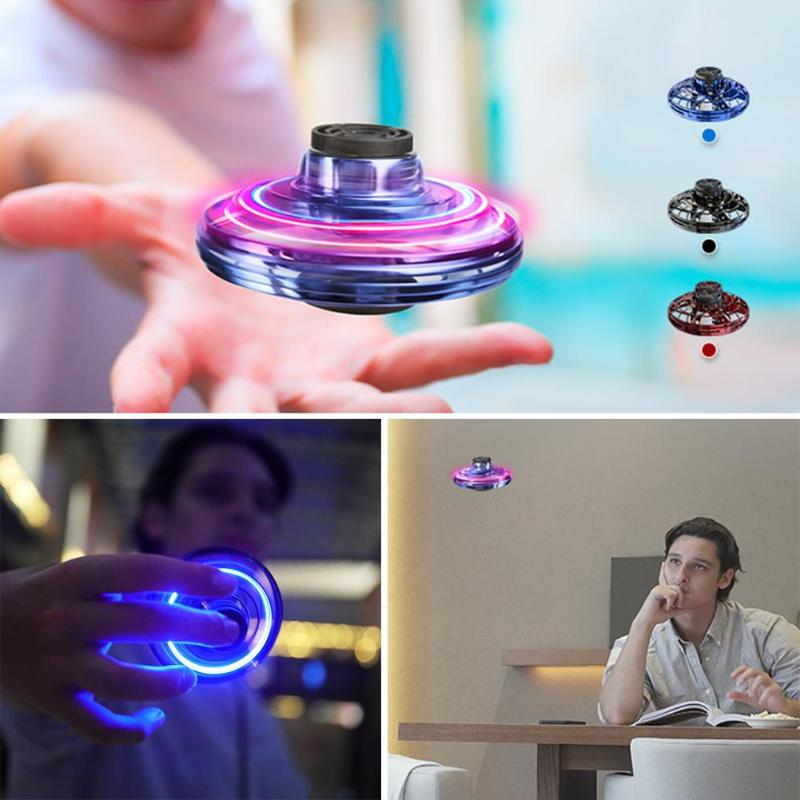 Mini Gyro ufo drone With Led Light Hand Induction Intelligent Pocket Spinner dron Model electronic rotating plane Toys for boys enlarge
