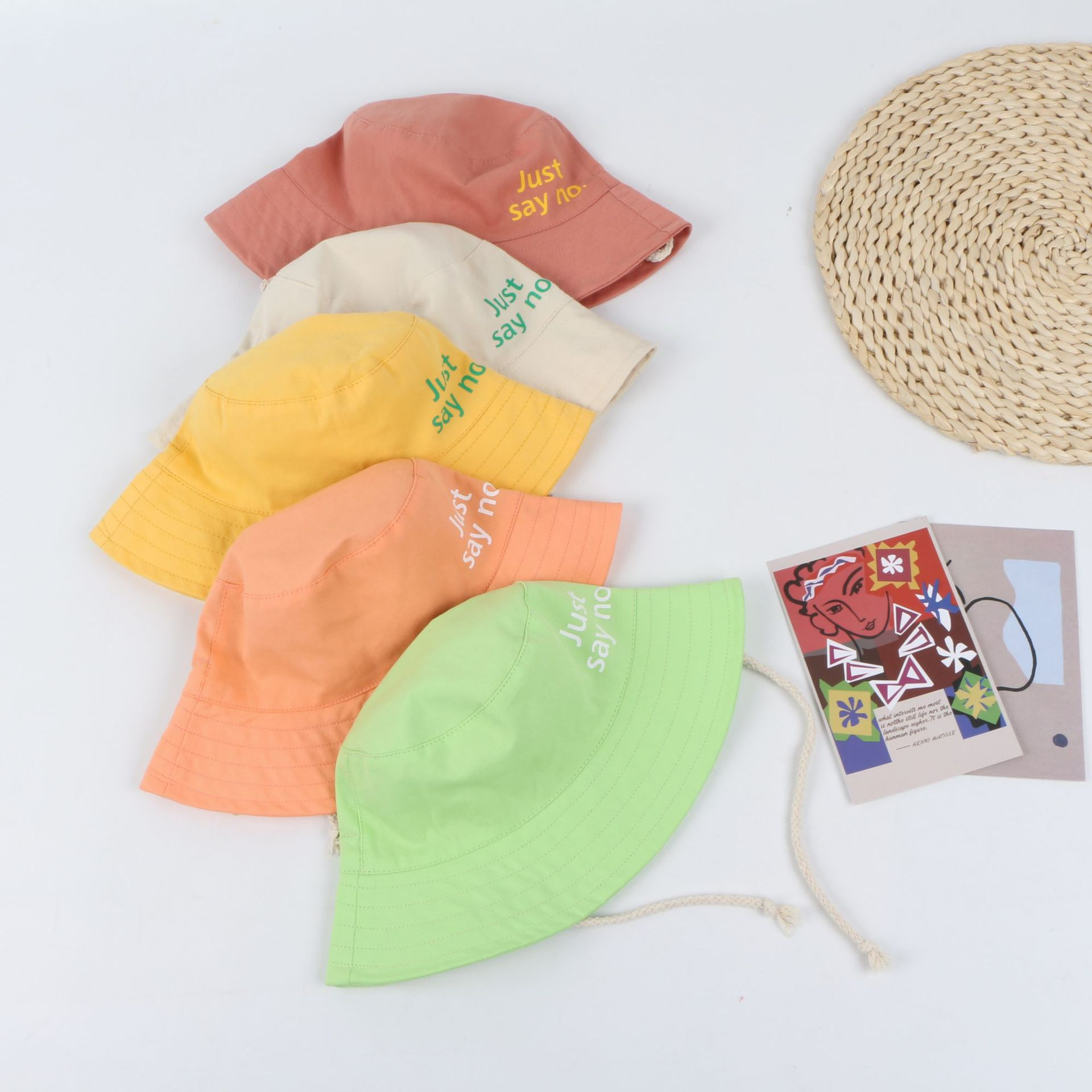 Crianças acessórios primavera outono meninos meninas tampas crianças chapéu de pescador