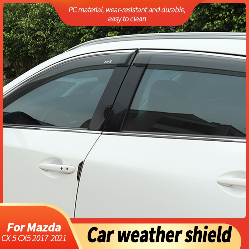 Weather Shield Side Window Deflector Awning Car Shelters Awnings Coats Exterior Accessories Parts For Mazda CX-5 CX5 2017-2021