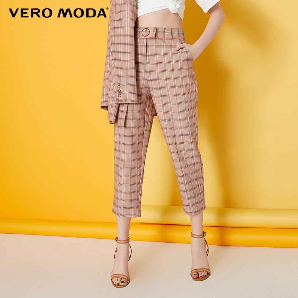 ¡Moda para mujer! Pantalones Capri de talle medio de tela escocesa, 31916J530