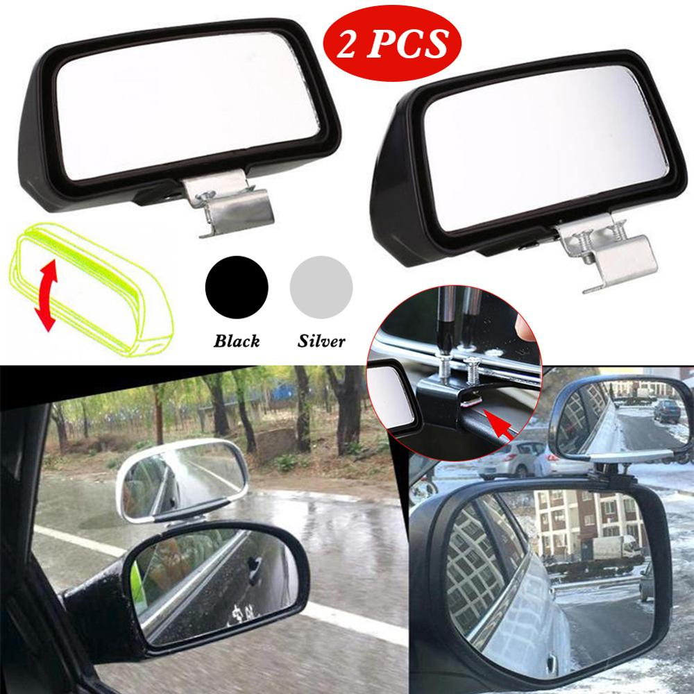 2pcs Car Mirror 360 Degree Adjustable Wide Angle Side Rear Mirrors blind spot Snap way for parking Auxiliary rear view mirror