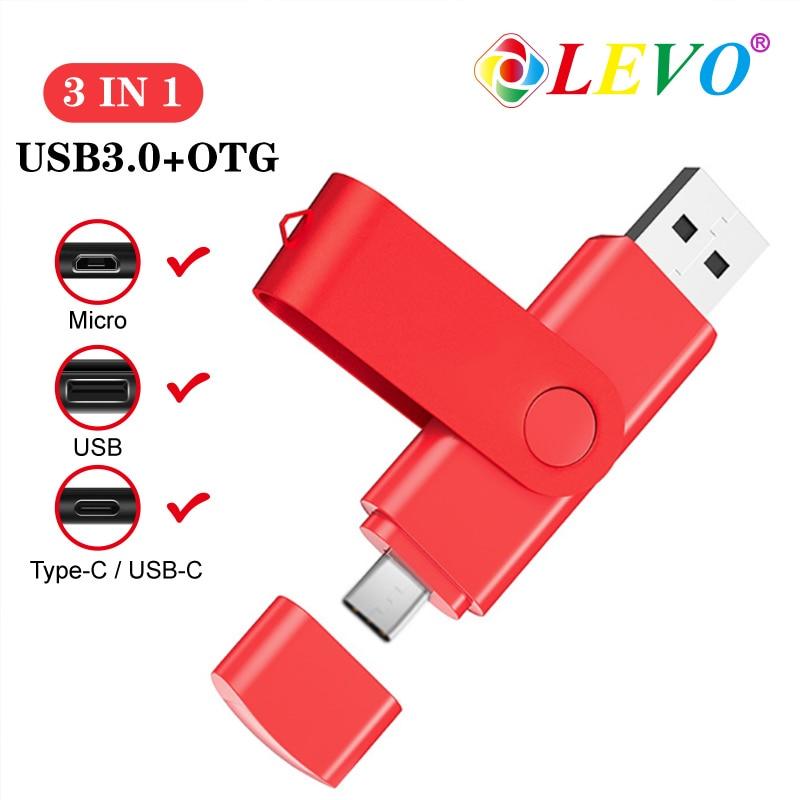 Type-C Smart Phone USB 3.0 Flash Drive 8G 16GB 32GB 64GB 128GB Metal Pen Drives Wholesale Memory Stick 3 in 1 type c mirco usb