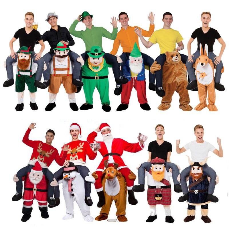 Новинка для взрослых и детей костюмы талисманы катание на мне Веселые штаны
