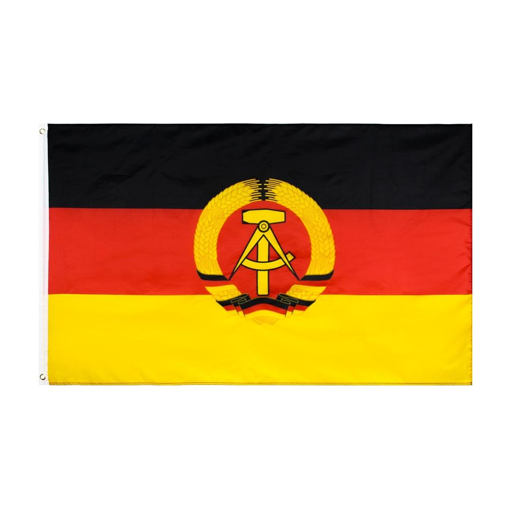 Bandera de Alemania del Este de Yehoy 90x150cm República Democrática Alemana GDR