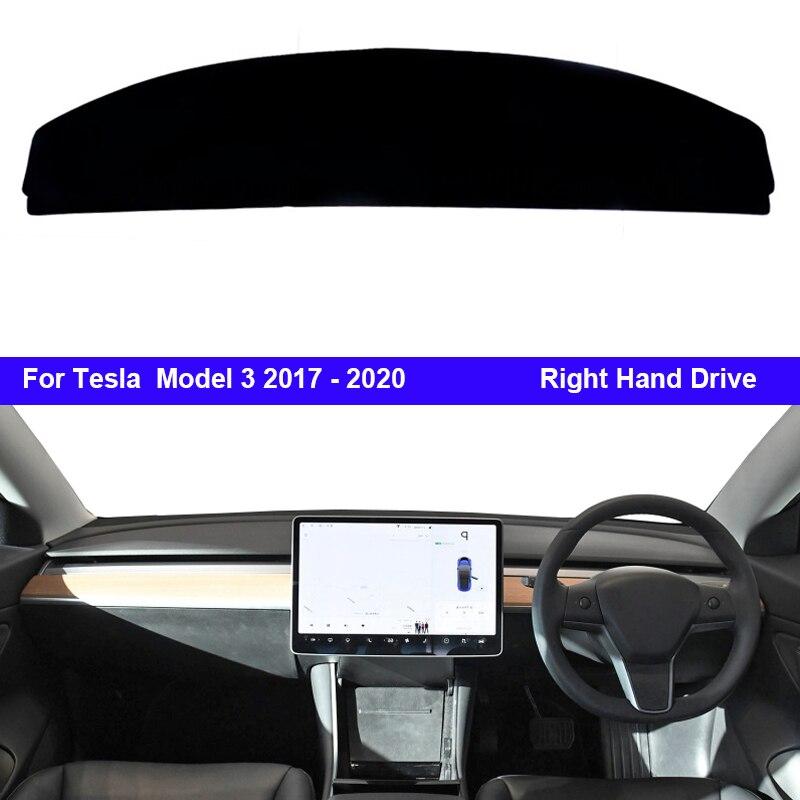 Para Tesla Model 3 2017-2020, Unidad de mano izquierda/derecha, 1 unidad, alfombrillas para salpicadero de coche, cubierta para parasol, cubierta para salpicadero, captador