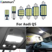 KAMMURI 14x No Error LED blanco luces interiores para automóvil paquete Kit para Audi Q5 8R 2008-2015, 2016, 2017, 2018, 2019 luz LED interior