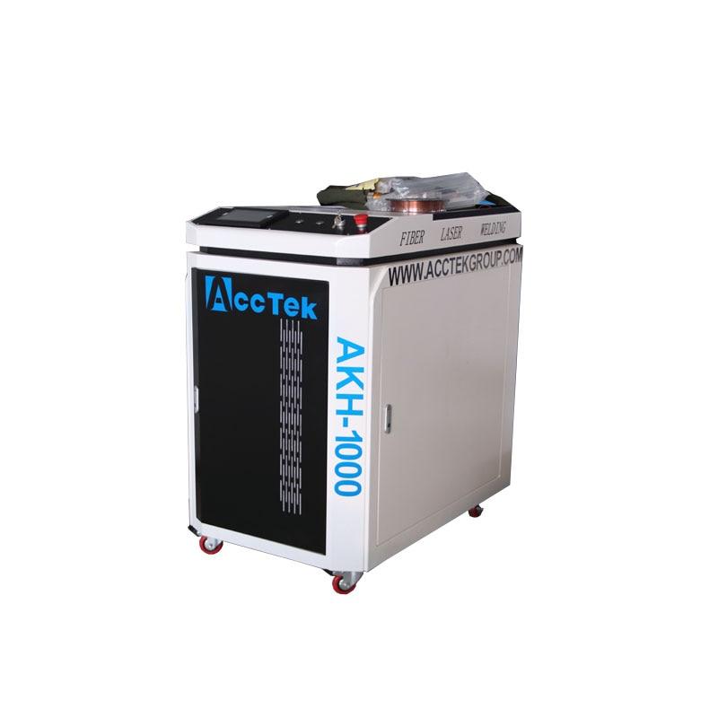ACCTEK Manufacture Hand Held Portable Steel Alu Copper Fiber Laser 1000W 1500W Laser Welding Machine With Raycus IPG