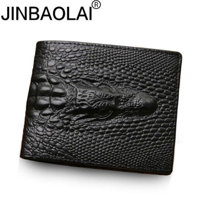 2020 Cartera de piel de cocodrilo para hombre de cuero genuino pequeña cremallera Slim corto hombres carteras para tarjetas de crédito titular monedero de bolsillo