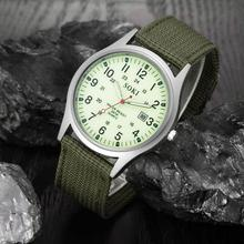 2019 Military Armee Uhren Männer Datum Leinwand Band Edelstahl Sport Quarz Armbanduhr Wasserdichte Uhr Relogio Masculino
