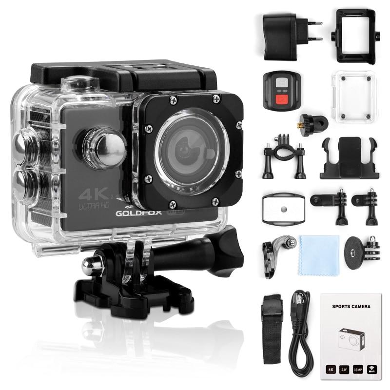 الترا HD 4K عمل كاميرا WiFi 12MP 2 بوصة 30M الذهاب للماء برو 170D خوذة دراجة تسجيل الفيديو كاميرا الرياضة كاميرا
