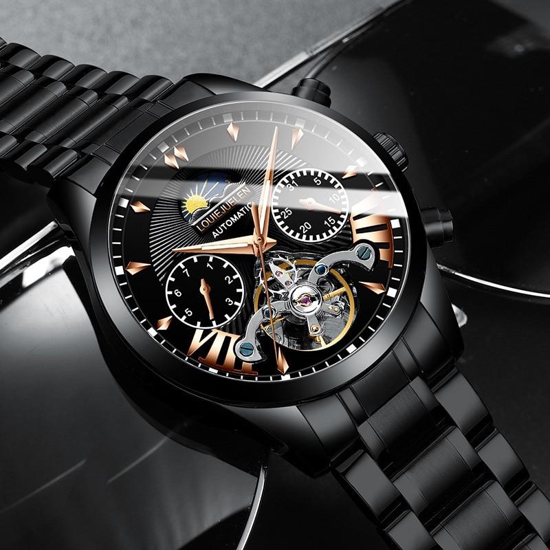 2021 New Men's Mechanical Sports Watch Mechanical Watch Men's Watch Fashion Luminous Watch Source Wholesale Factory enlarge