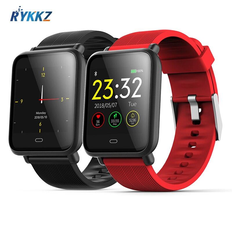 Reloj inteligente Q9 a prueba de agua deportivo, rastreador de ritmo cardíaco, pulsera de Fitness, recordatorio de llamada/mensaje, reloj inteligente Bluetooth para Android iOS