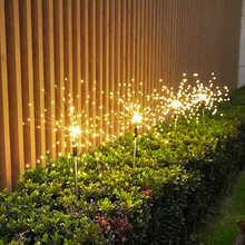 Waterproof Fairy Garland 90/150 LED Light LED Outdoor Solar Fireworks Lights String Garden Lawn Street decoration lighting lamp