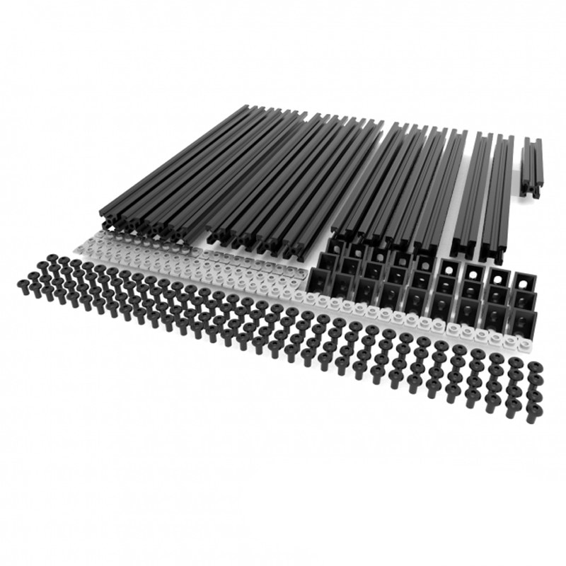 New Black / Silver Hypercube 3D Printer Extrusion Metal Frame & Hardware Kit For DIY HyperCube 3D Printer/CNC Machine