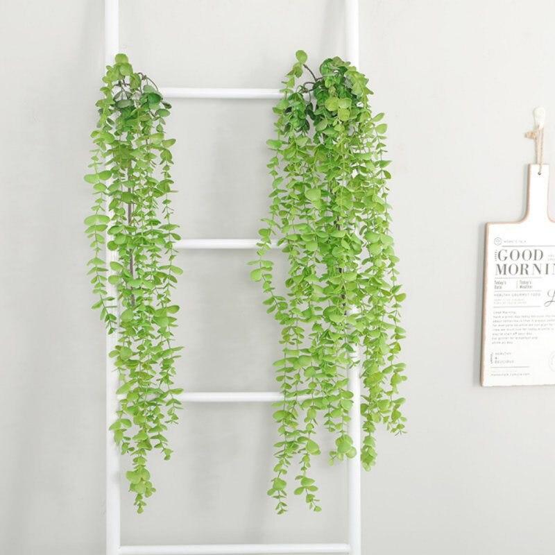 Artificial Vines Fake Silk Silver Dollar Eucalyptus Hanging Garland Greenery Plant for Wedding Christmas Holiday Decroation