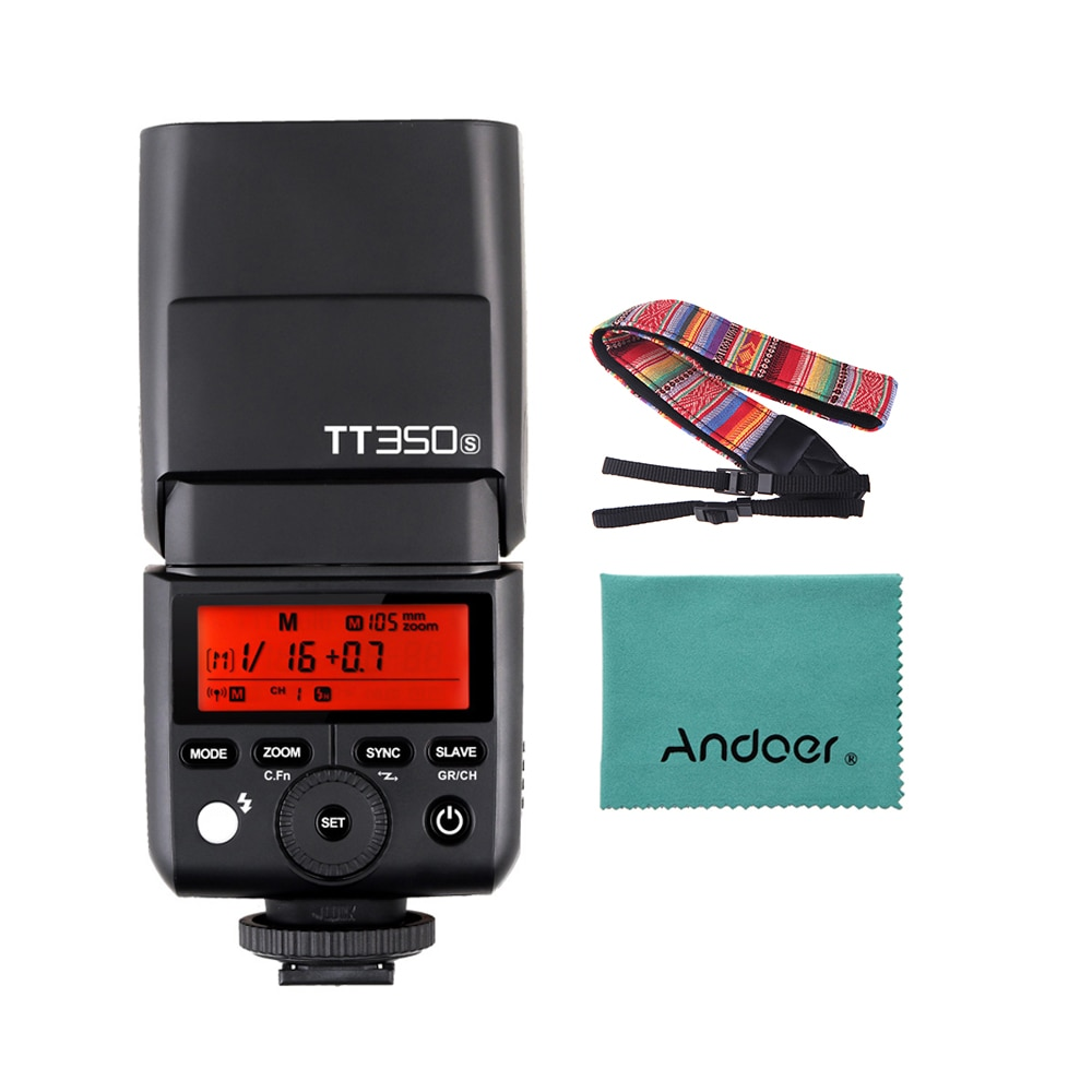 Godox TT350S Portable Speedlite 2.4G Wireless Master & Slave 1/8000S HSS TTL Flash Speedlight for Sony Mirrorless ILDC Camera