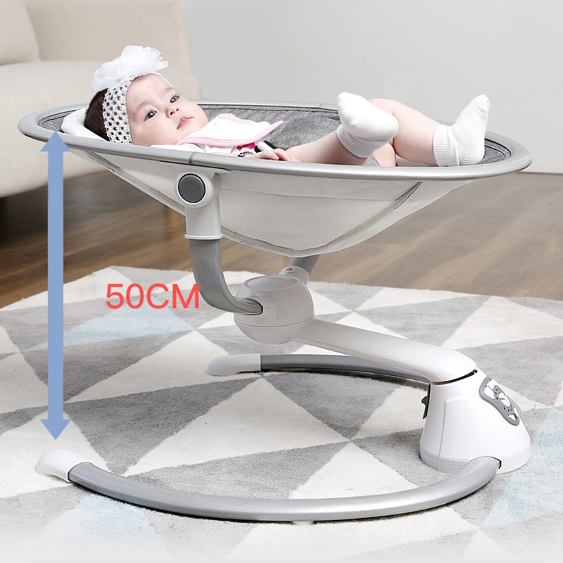 New Home Electric Baby Rocking Chair Baby Rocking Bed Multifunctional Rocking Chair with Mosquito Net Remote Control Baby Cradle enlarge