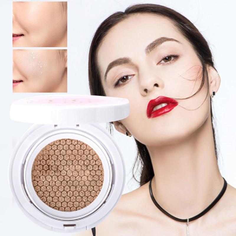 Nuevo Profesional almohadilla para base CC crema base blanqueadora humectante aire cojín Control de aceite para maquillaje perfecto