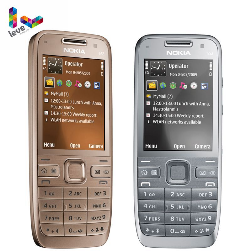 Nokia E52 GSM Smartphones WIFI Bluetooth GPS 3.2MP Support Russian&Arabic Keyboard Original Unlocked