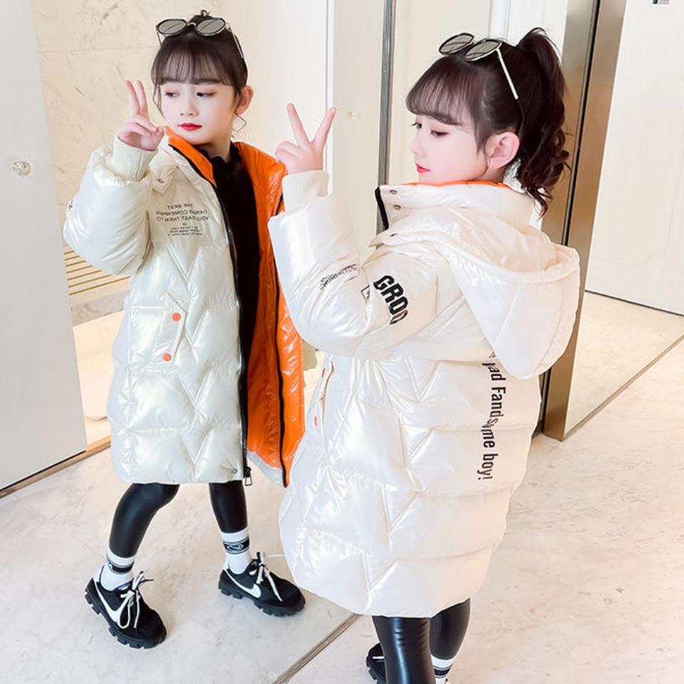 jaqueta de inverno para criancas jaqueta engrossada com capuz para meninas e criancas