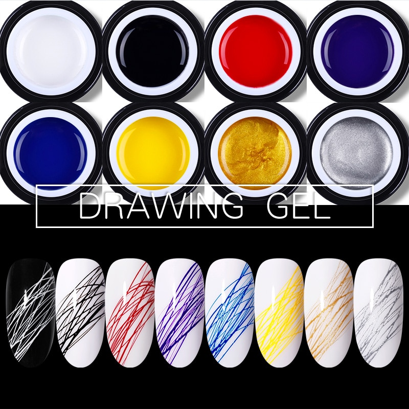 BORN PRETTY-esmalte de Gel efecto Araña, laca de Gel elástica gruesa, colorida, 5ml, Gel UV para arte de uñas