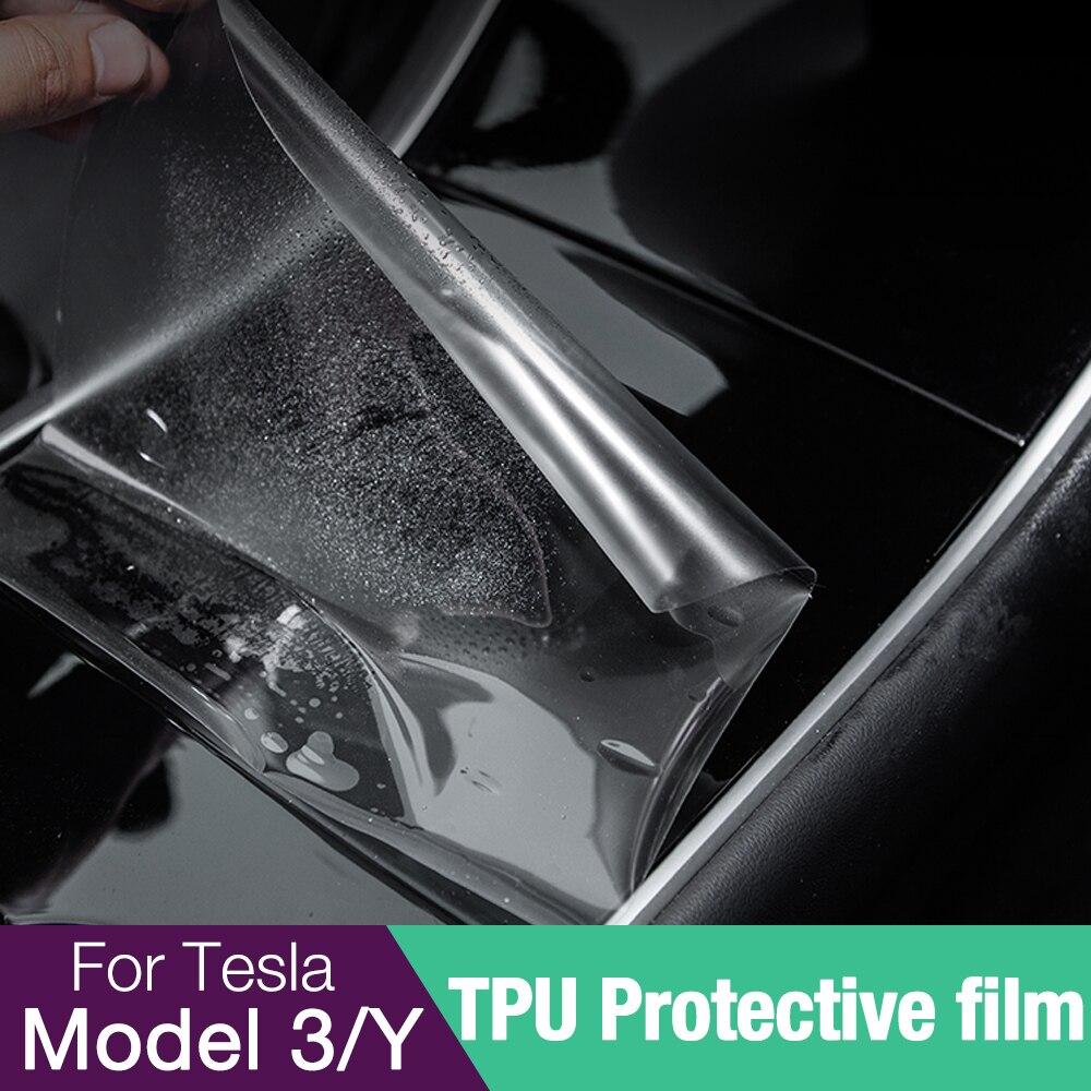 Набор Tesla Model 3 Y 2016-2021 ABS + TPU, Центральная панель управления, центральная консоль, чехол для Tesla, автомобильные аксессуары