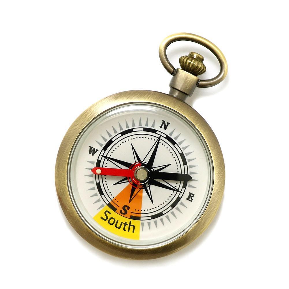 Золотистый ретро-компас, высококачественные карманные часы, Компас для наружного кемпинга, походов, скалолазания, портативные компасы нави...