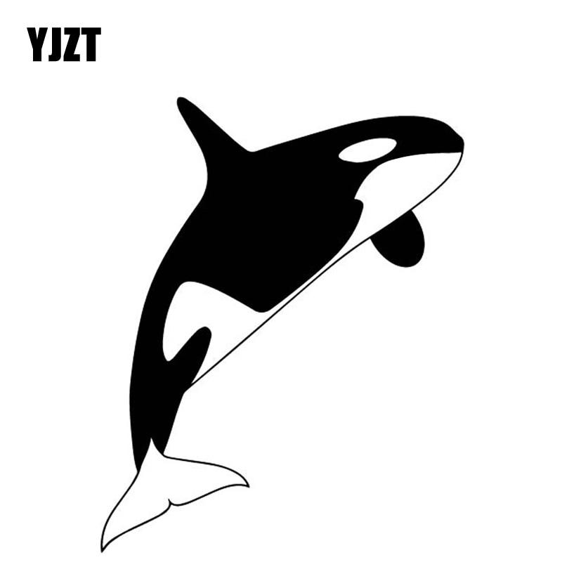 YJZT 12.6CM*15.9CM Whale Pattern Body Of Car Decorate Vinyl Decal Accessories Car Sticker Black/Silver C4-2364