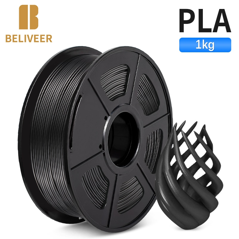 aliexpress.com - PLA Filament 1.75MM 1KG Suitable For All Types Of FDM3D Printers Accuracy Dimension +/-0.02MM  Vacumm Packing BELIVEER 3D