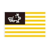 100 polyester yellow white stripe flag new american flag symbol of unity and peace free shipping factory direc
