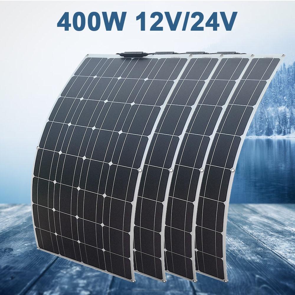 100 Watt 12v Extremely Flexible Monocrystalline Solar Panel Kit for Motorhome Caravan Camper Boats Roofs Uneven Surfaces