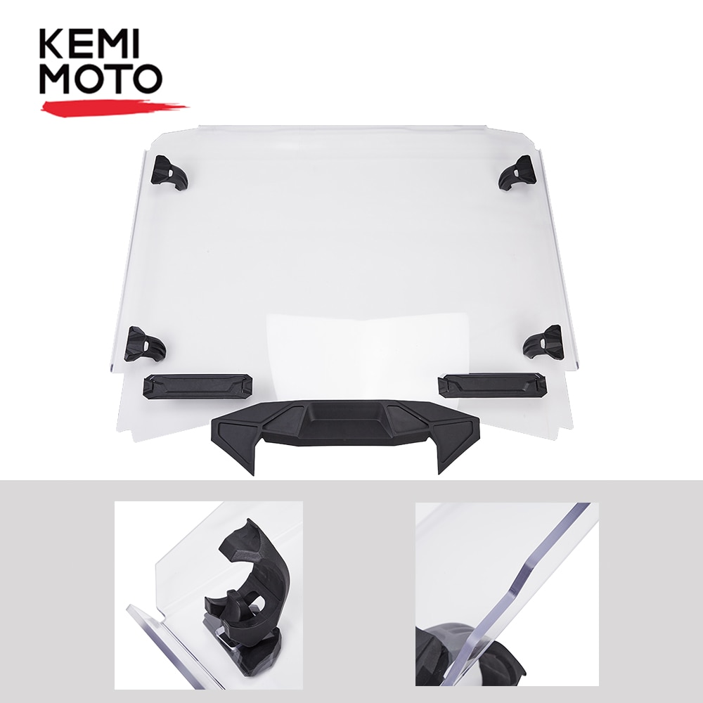 Kemimoto 2020 rzr utv completo pára-brisa para polaris rzr pro xp 2020 + alta qualidade pc limpar estilo original