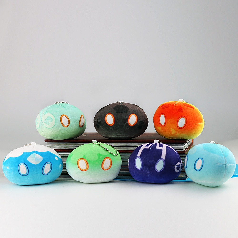 Game Genshin Impact Slime Theme Cute Plush Dolls Keli Dango Throw Handful Toys Cartoon Birthday Xmas Gift