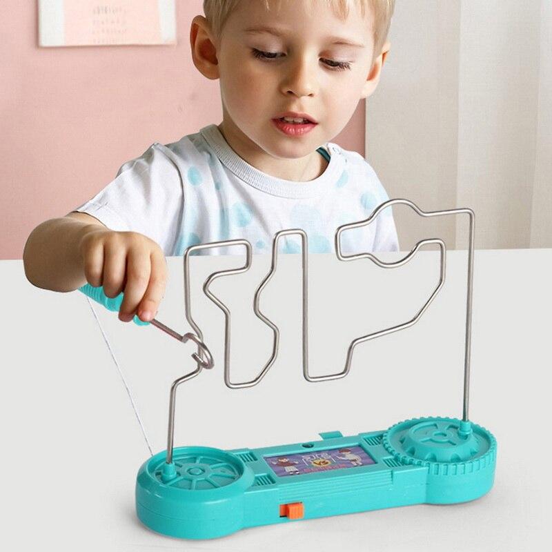 Дети столкновения поражения электрическим током-лего для обучения, сборный Электрический сенсорный лабиринт игра вечерние веселые игры, и...