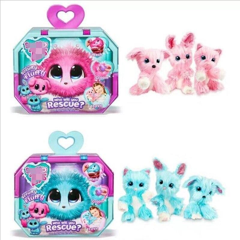 Глухая коробка Scruff плюшевая игрушка Luvse банная собака, кошка, кролик, кукла, спасите животных, плюшевые забавные мягкие игрушки, украшение для девушки, специальный подарок