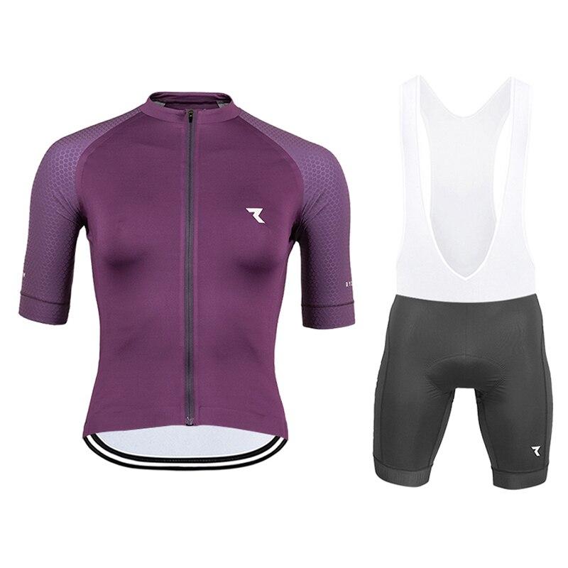 Ryzoning-Conjunto de ropa para Ciclismo, camisetas de manga corta para verano, pantalones cortos para bicicleta, Maillot de Ciclismo, 2020